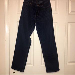 White House Black Market dark straight crop jeans